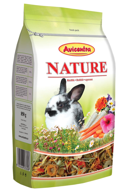 Avicentra Nature Rabbit - пълноценна храна за мини зайчета 850 гр.
