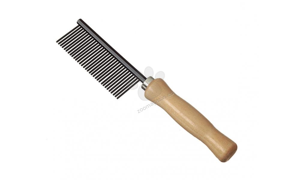 Camon Anti static comb - αντιστατική χτένα με ξύλινη λαβή, 32 δόντια