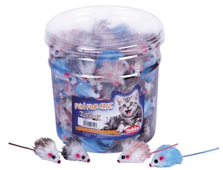 Nobby Plüschmaus, bunt - играчка плюшена мишка 5 см.