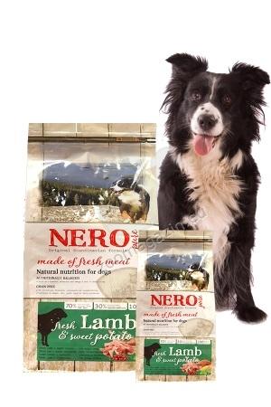 Nero Pure Adult with Fresh Lamb (grain free) - храна за кучета със 70 % агнешко месо, 30 % плодове и зеленчуци, без зърнени съсътавки и без глутен 12 кг.