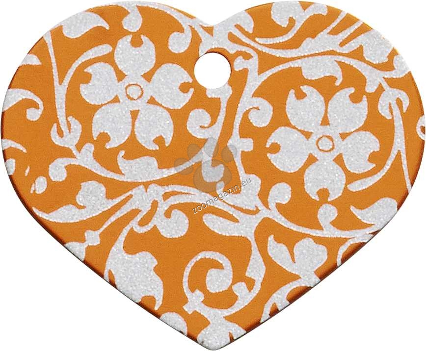 iMARC - Orange Floral Ornate Heart