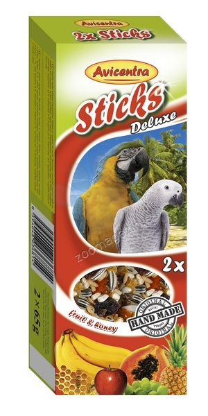 Avicentra Sticks deluxe with fruit & honey for parrots - крекер за големи папагали 2 броя, 130 гр.