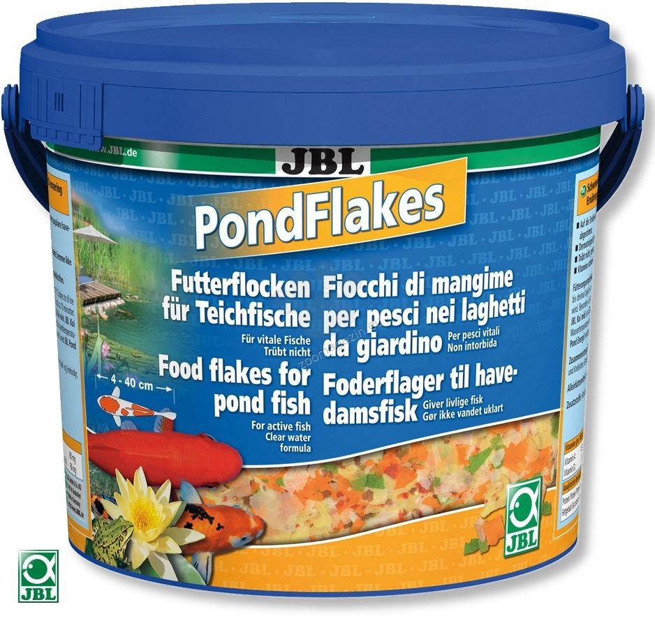 JBL PondFlakes - храна на люспи, подходяща за всички видове езерни риби 5.5 литра / 770 грама /