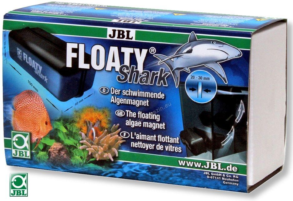 JBL Floaty Shark - почистващ магнит за стъкла с дебелина от 20 до 30 мм.