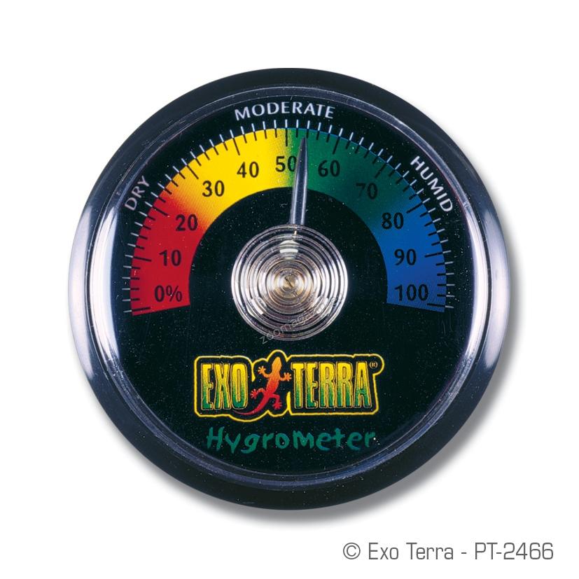 Exo Terra Hygrometer - αναλογικό στρογγυλό υγρόμετρο pt2466