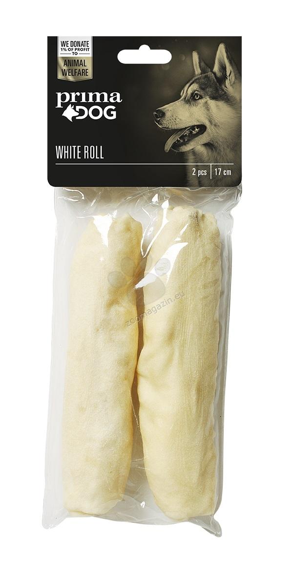 Prima Dog White Roll - лакомство от обработена сурова кожа за здрави зъби и венци, 17 см, 2 бр.