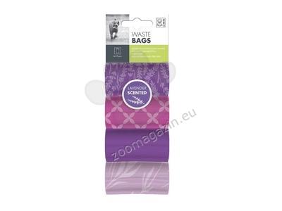 M-Pets Dog Waste Bags Lavender - 4 Rolls - ароматизирани пликчета / лавандула / 4 ролки по 15 броя