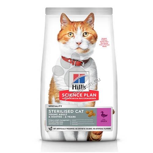 Hills - Science Plan Sterilised Cat Young Adult с патешко - Пълноценна суха храна - За млади кастрирани котки от 6 месеца до 6 години 1.5 кг. + 300 гр. ГРАТИС