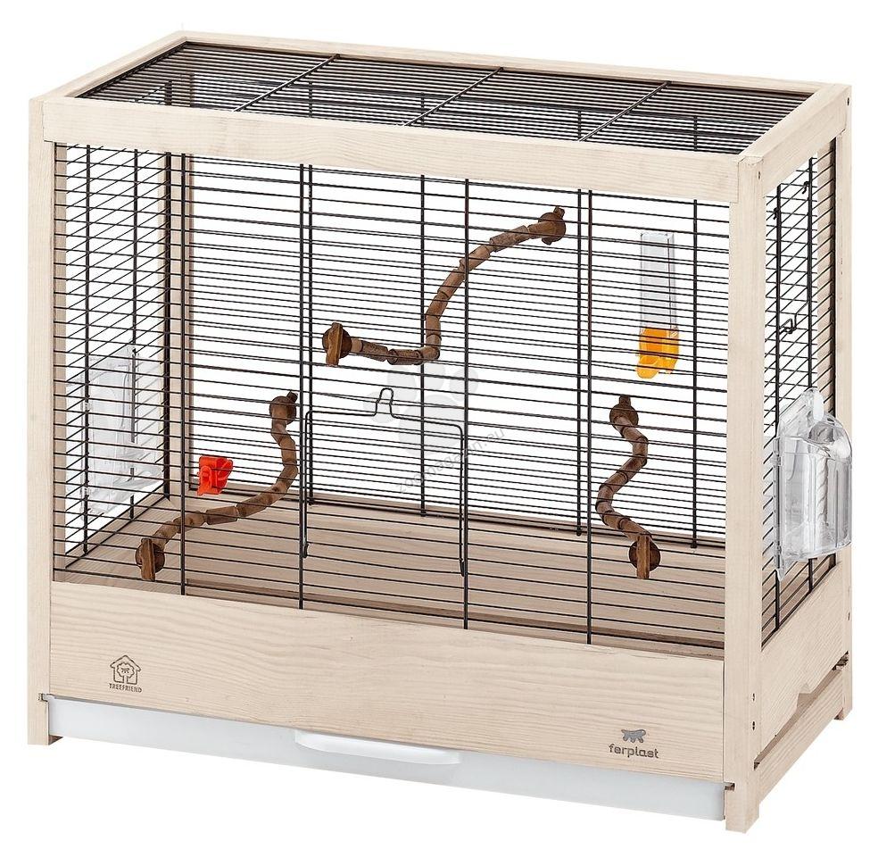 Ferplast - Giulietta 4 - кафез за канарчета, вълнисти папагали или екзотични птички 57 / 30 / 50 см.