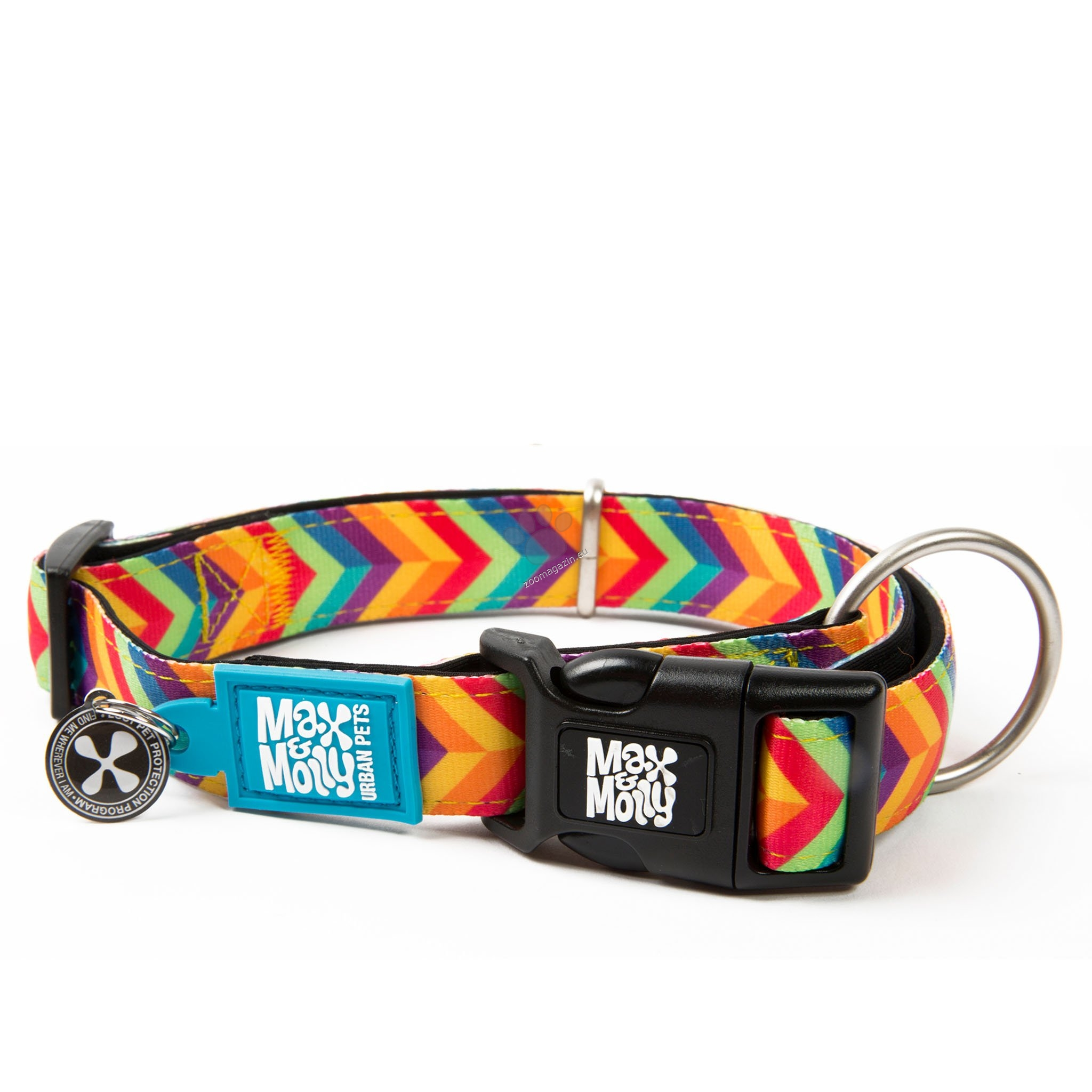 Max Molly Smart ID Summertime L - нашийник с ID чип за сигурност 39 - 62 см. / 25 мм.
