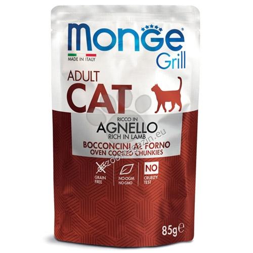 Monge Grill Adult с агнешко – пауч с хапки в желе – за котки в зряла възраст 85 гр.