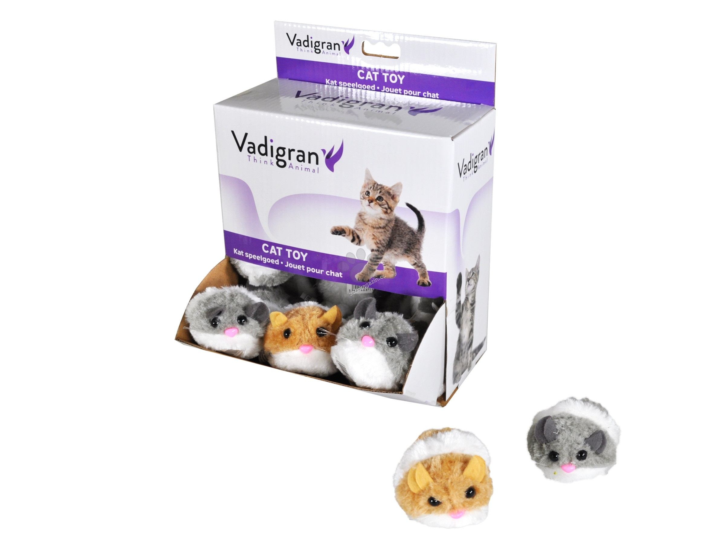 Vadigran - Cat Toy Wind up Mouse - навиваща се мишка 7 см. / кафява, сива /