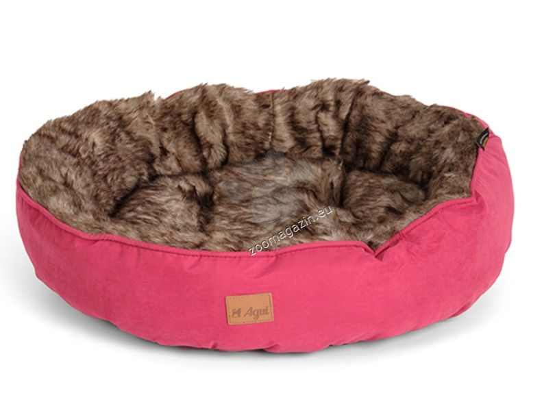 Agui Furry Donut Bed - меко легло 50 / 13 см. / черно, червено, зелено /