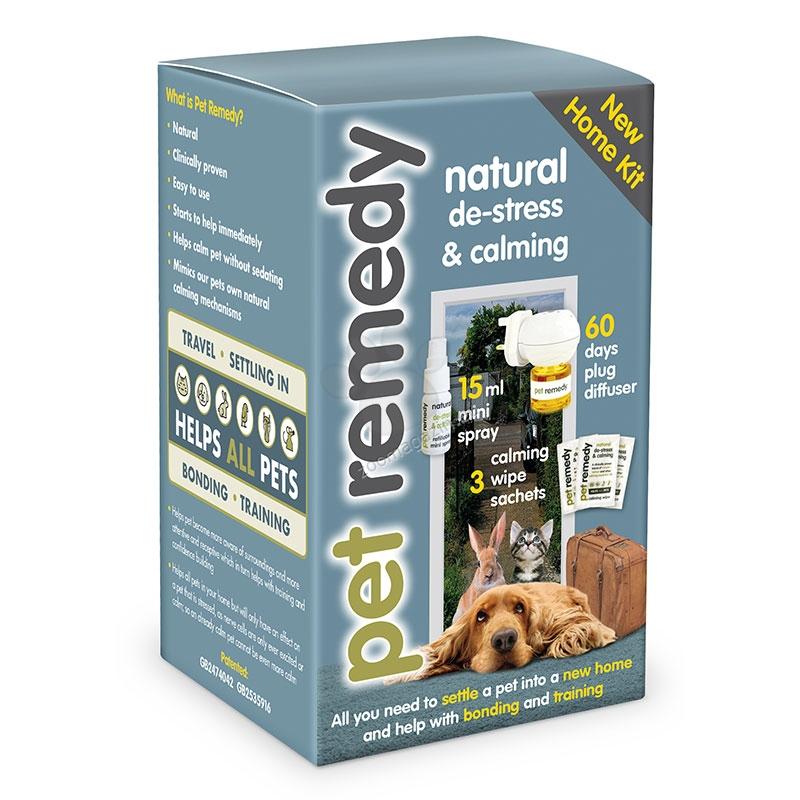 Pet Remedy New Home Kit - комплект Нов Дом / дифузер с 40 мл., мини успокояващ спрей 15 мл., 3 броя успокояващи кърпички /