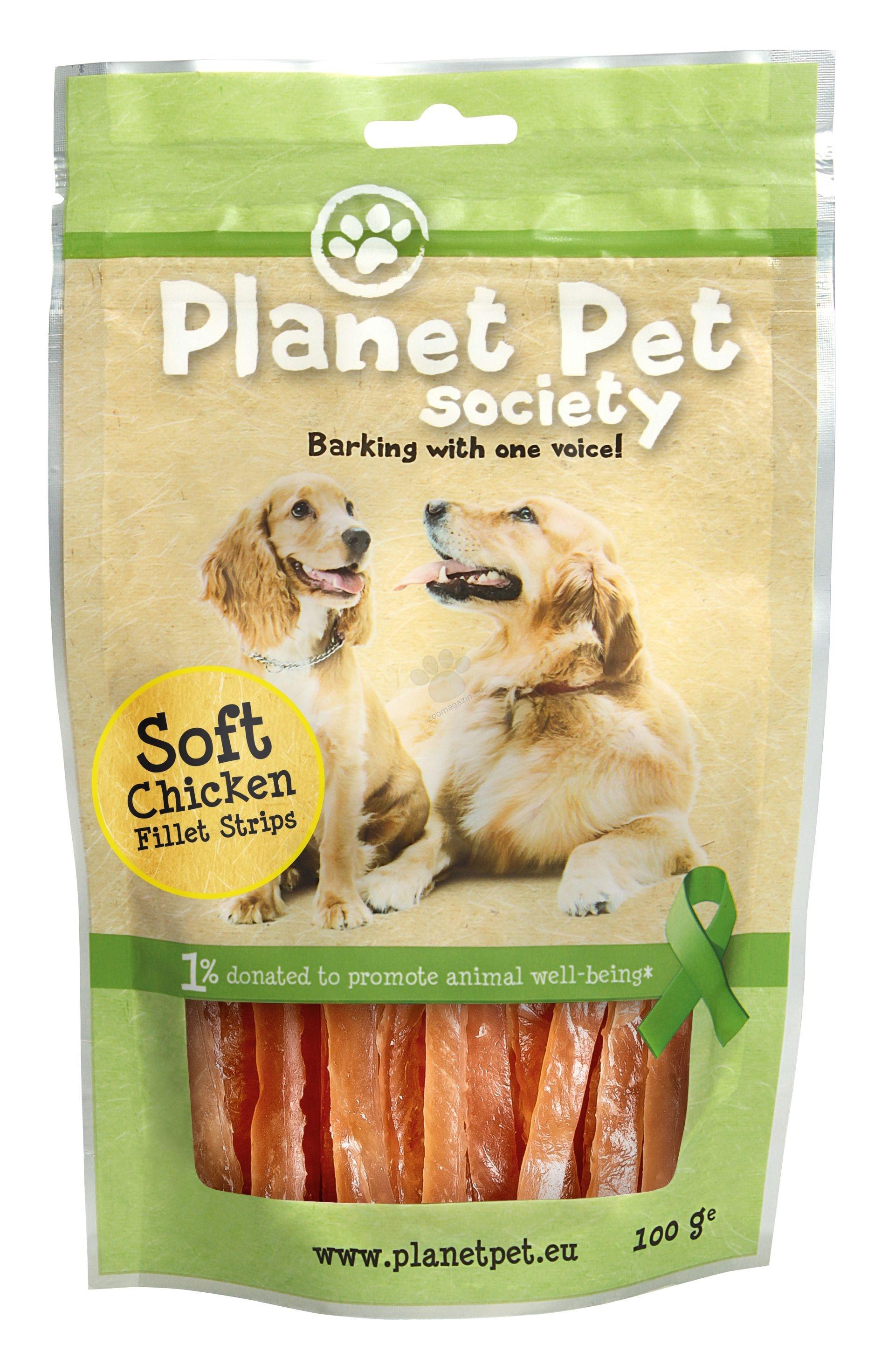 Planet Pet Soft Chicken Fillet Strips - натурални ленти пилешки филенца 100 гр.