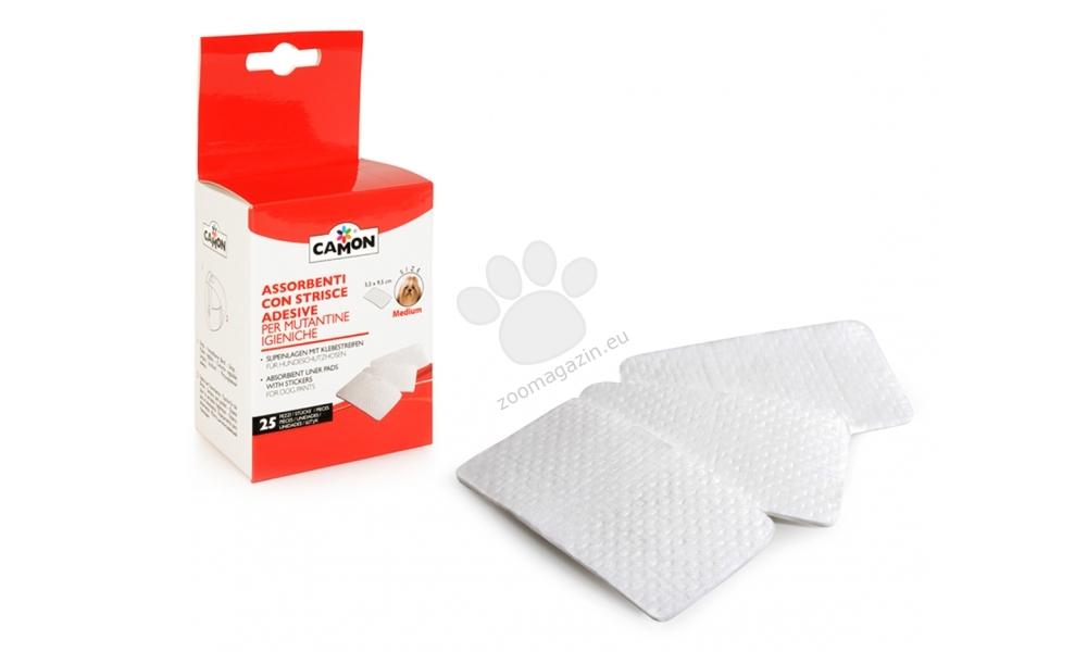 Camon Absorbent liner pads with stickers Medium - подложки за хигиенни гащи 25 броя