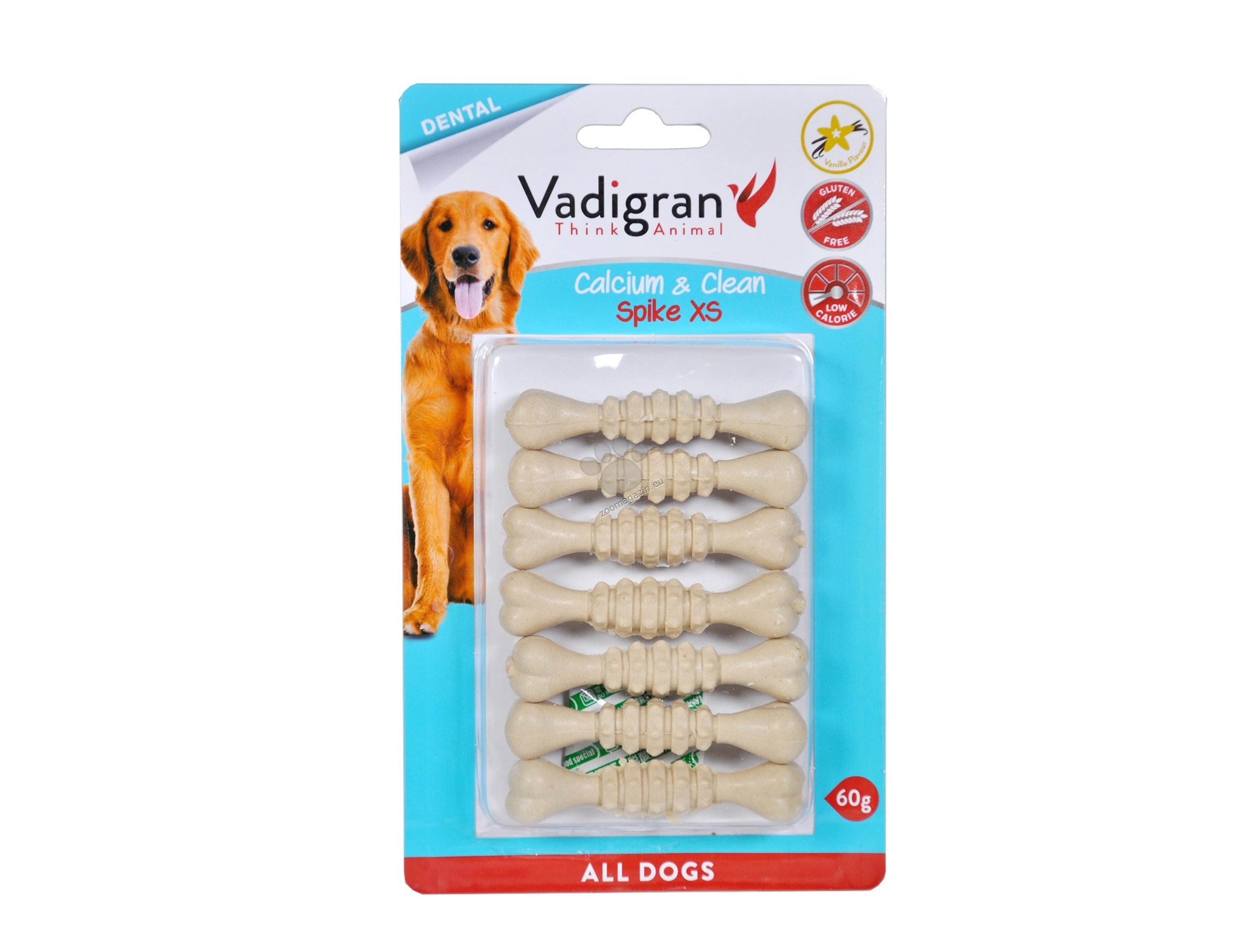 Vadigran - Pressed Chevbone Calcium & Clean - калциево кокалче, за висока устна хигиена 60 гр. / 7 см.