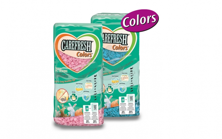 JRS Chipsi Carefresh Color Pink - изработен от естествени целулозни влакна / розови / 10 литра