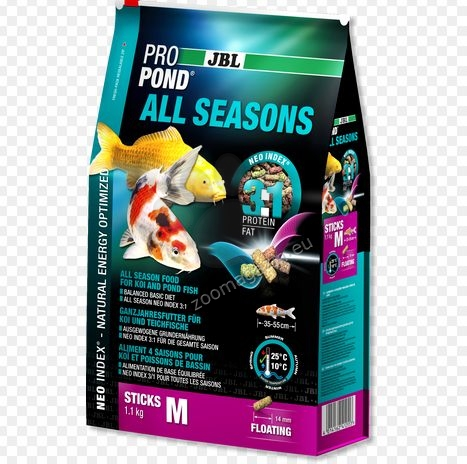 JBL ProPond All Seasons - балансирана храна за всички видове езерни риби 5.8 кг.