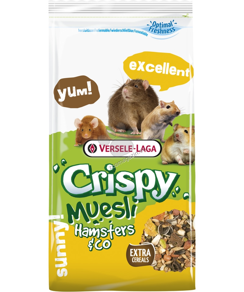 Versele Laga - Crispy Muesli Hamster & Co - пълноценна храна за хамстери 400 гр.