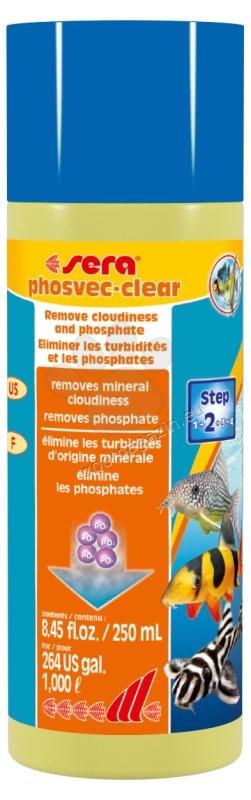 Sera - Phosvec Clear - премахва мътност и хранителните вещества на водораслите 250 мл.