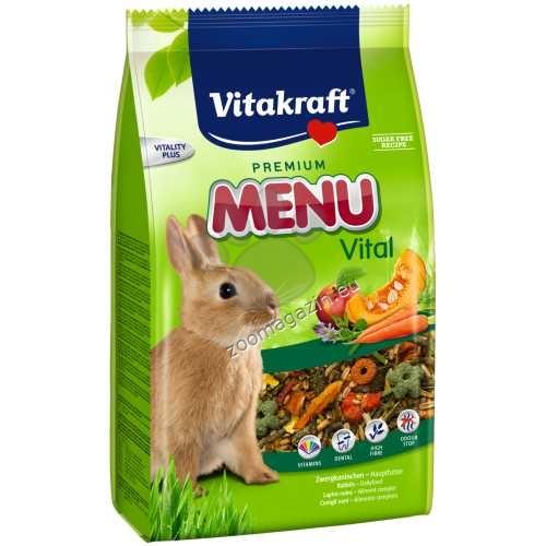 Vitakraft - Menu Vital - пълноценна храна за мини зайчета 1 кг.