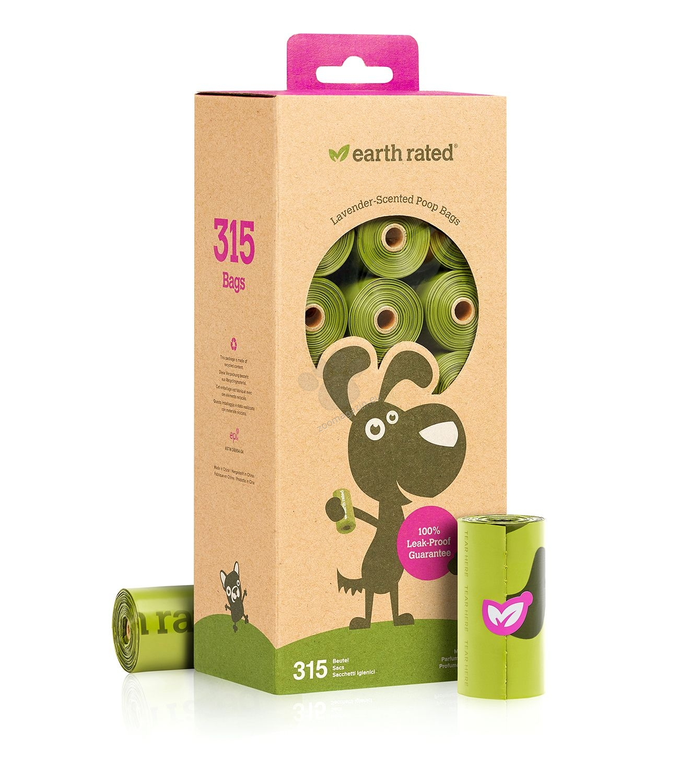 Earth Rated - Bulk Pack Refill Rolls - биоразградими пликове с аромат на лавандула  21 ролки по 15 броя