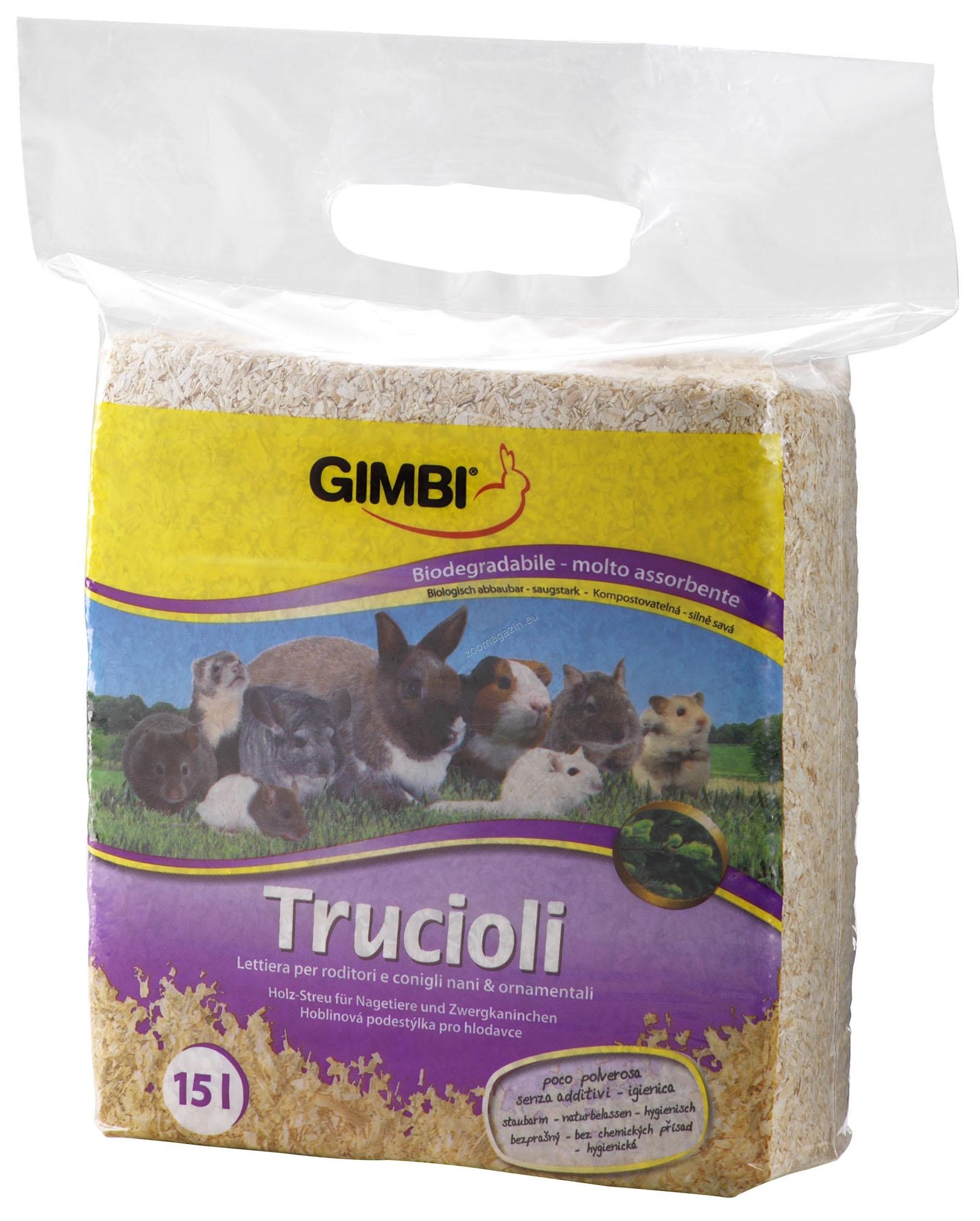 Gimborn - Gimbi Wood Shavings litter - натурален обезпрашен и обезпаразитен талаш 1 кг.