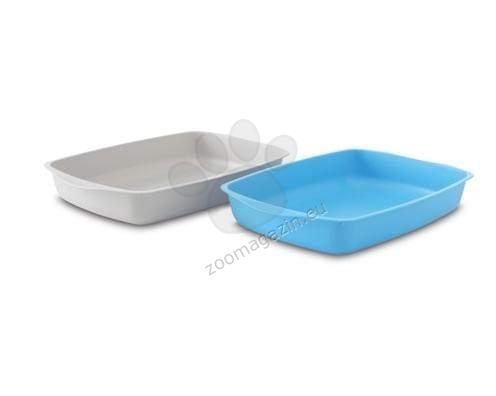Savic Tray - котешка тоалетна без капак 37,2/25,6/6,5 см./сива,синя/