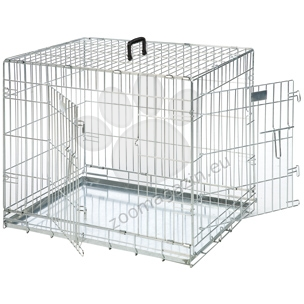 Flamingo Wire Dog 2 Doors - μεταλλικό αναδιπλούμενο κλουβί με δύο πόρτες 120/82/76 cm.