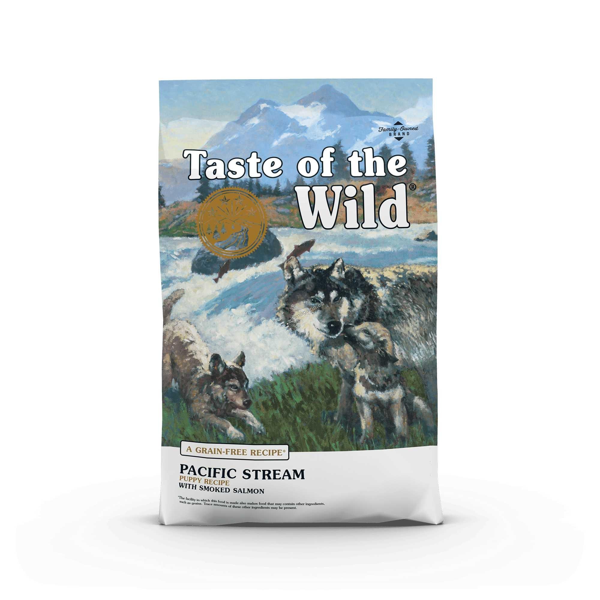 Taste of the Wild Pacific Stream Puppy with Smoked Salmon - храна с пушена сьомга, за малки и подрастващи кучета от 1 до 12 месеца 12.2 кг.