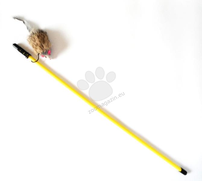 Flamingo Cat - играчка въдица с мишка 50 см.