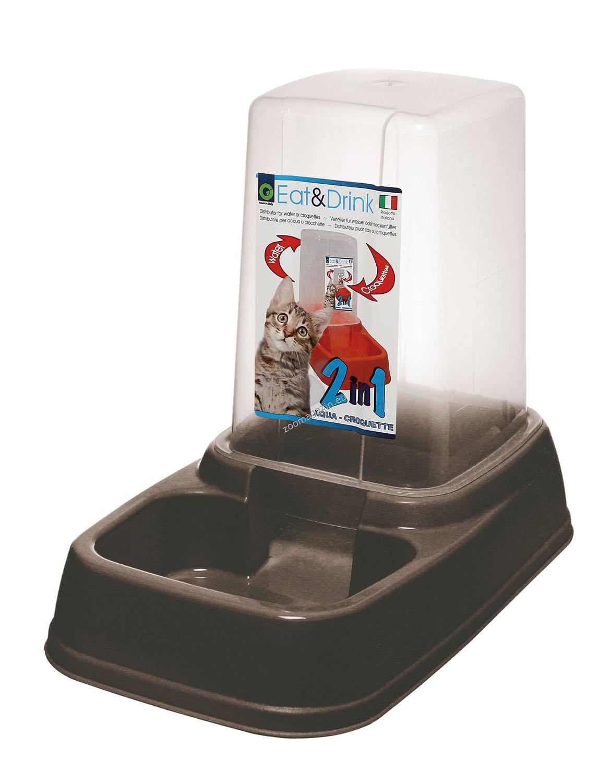 Georplast - Eat & Drink - диспенсър за храна или вода 3.7 литра / розов, син, сив, черен /