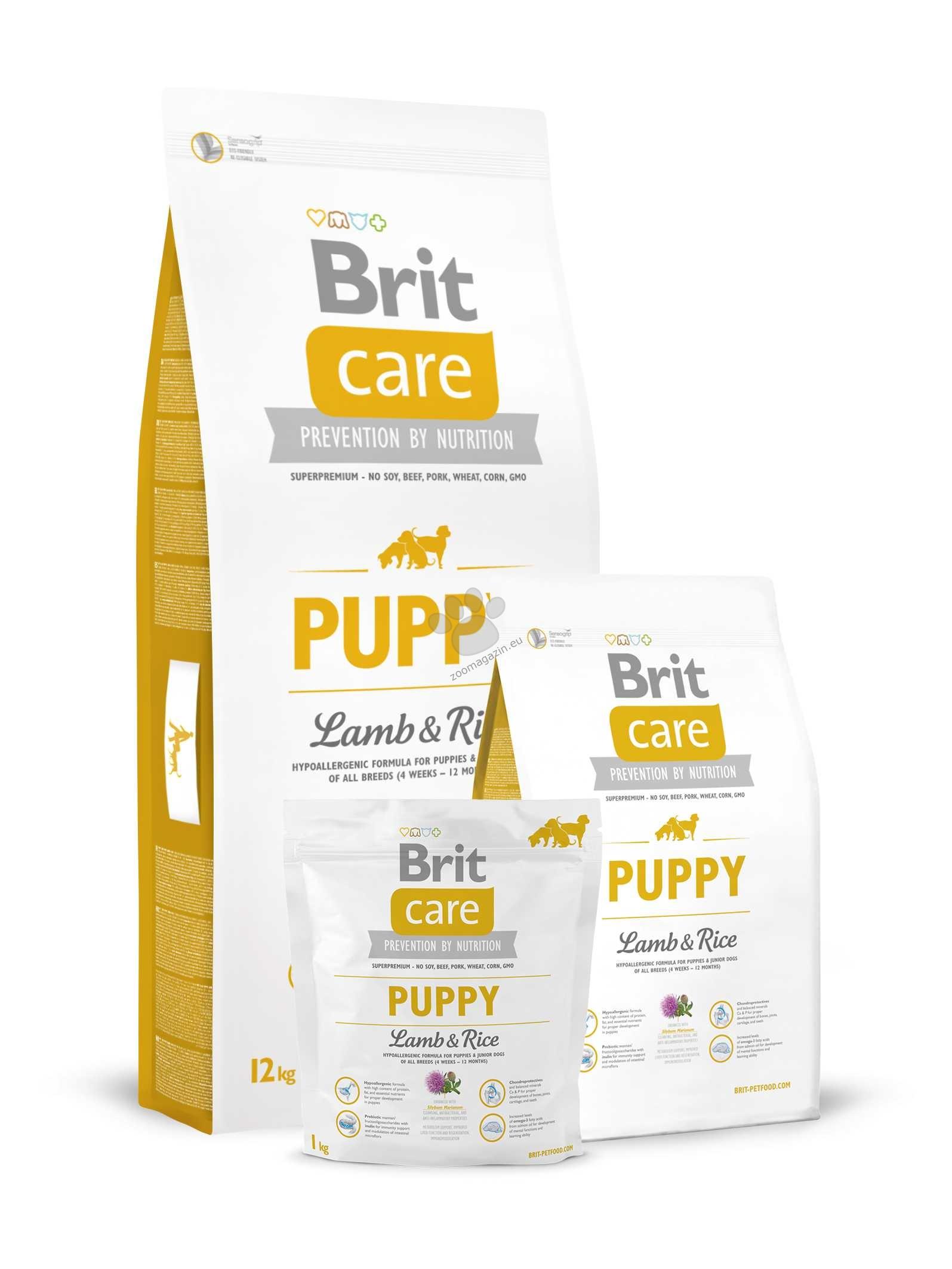 Brit Care Puppy Lamb & Rice - с агнешко месо и ориз, за кучета от 1 до 12 месеца 12 кг.