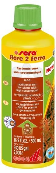 Sera - Flore 2 Ferro - течна добавка с желязо за аквариумни растения 500 мл.