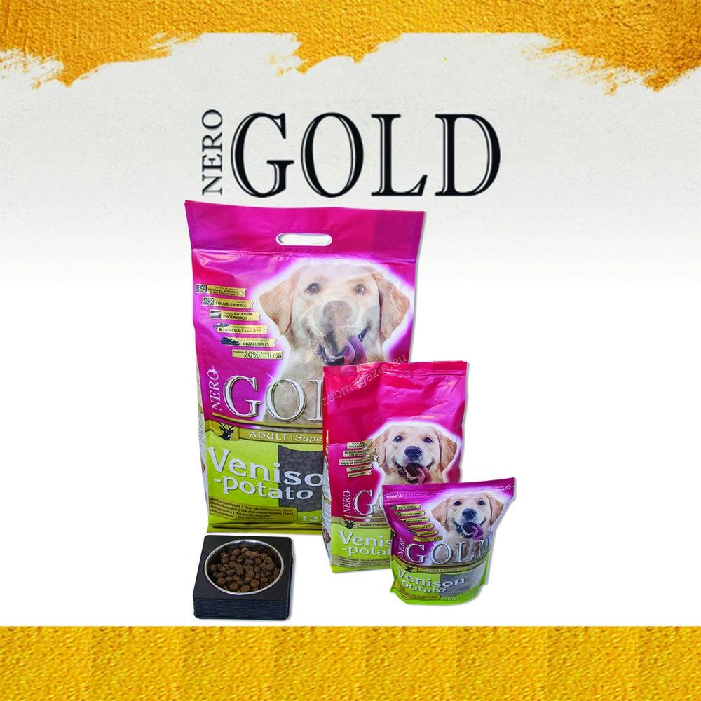 Nero Gold Vension and Potato - пълноценна храна с месо от дивеч и картофи, за кучета над 12 месечна възраст, подходяща за всички породи 12 кг.